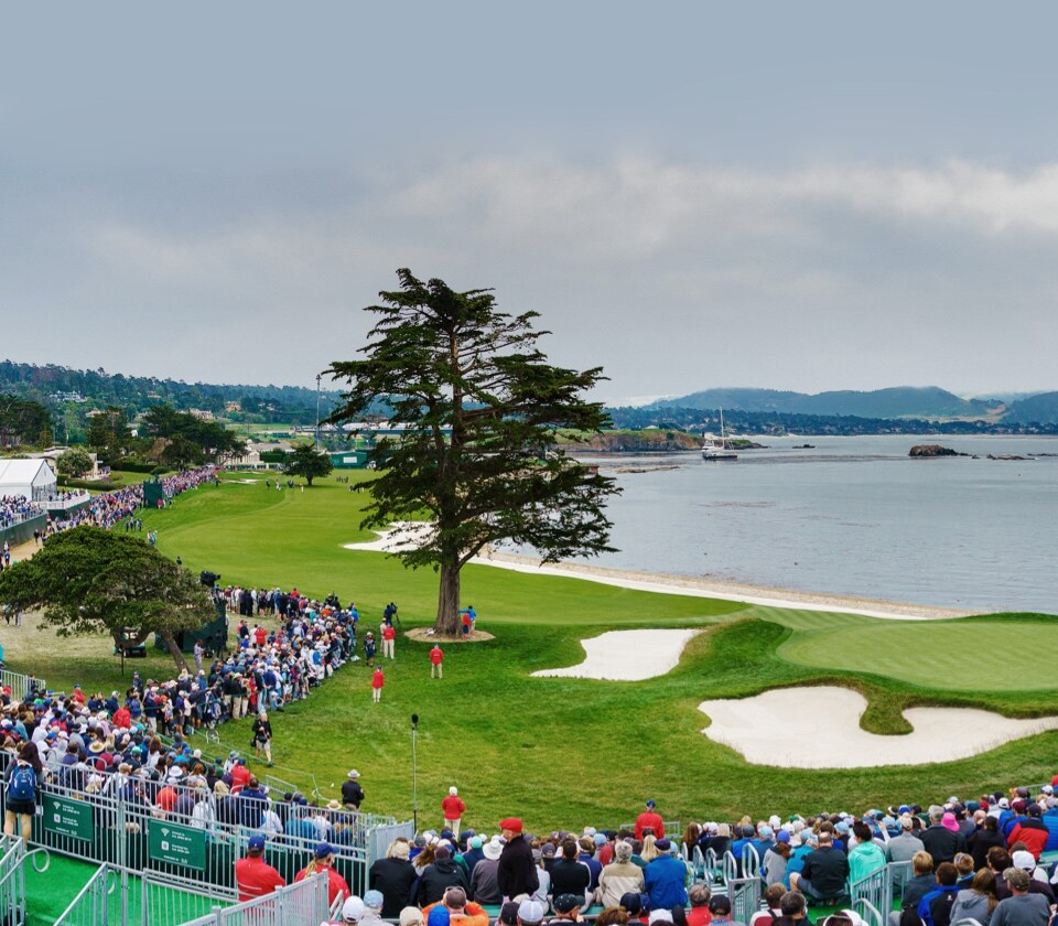 Crowds at Pebble Beach during U.S. Open Championship