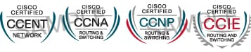 Cisco Career Certifications Logos
