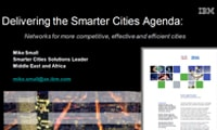 Delivering the Smarter Cities Agenda: