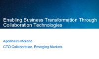 Enabling Business Transformation Through Collaboration Technologies