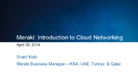 Meraki: Introduction to Cloud Networking