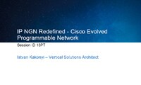 IP NGN Redefined-Cisco Evolved Programmable Network