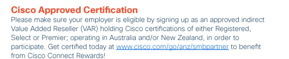 Cisco Approved Certification
