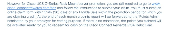 Claiming For Your Cisco Rewards Points