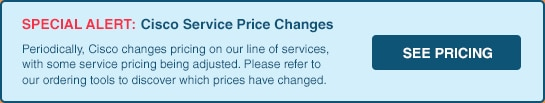 Cisco Service Price Changes