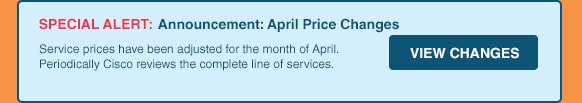 Announcement: April Price Changes