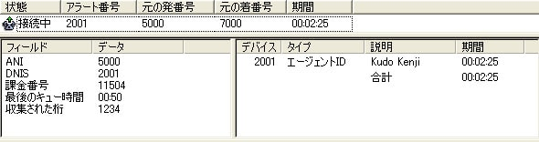 図 1 Cisco Agent Desktop Standard と Enterprise Data ポップアップ
