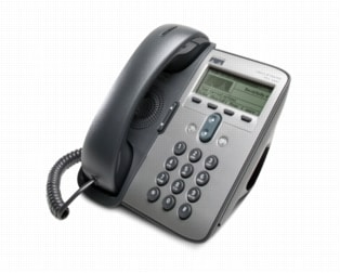 図 1 Cisco Unified IP Phone 7911G