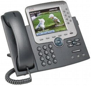 図 1 Cisco Unified IP Phone 7975G
