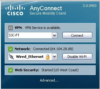 Cisco AnyConnect VPN Client 3.0