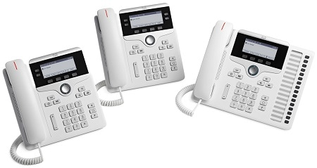 図 1 Cisco IP Phone 7800 シリーズ