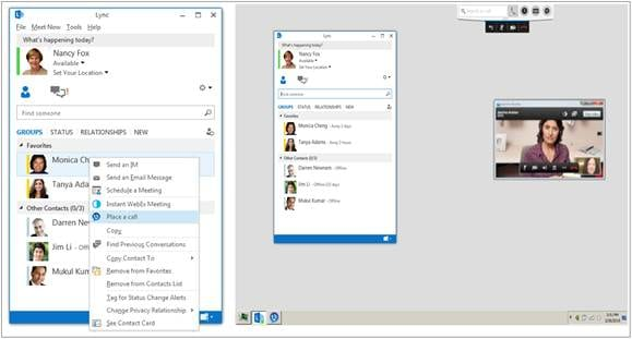図 1 Cisco UC Integration for Microsoft Lync