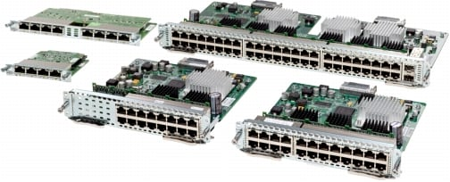 図 4 Cisco EtherSwitch EHWICs and Service Modules
