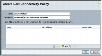 図 8 [Create LAN Connectivity Policy] ウィザード