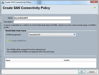 図 12 [Create SAN Connectivity Policy] ウィザード