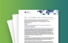 Download the IDC Technology Spotlight Report below