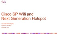 Cisco SP Wifi and next Generation Hotspot