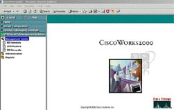 "CiscoWorks VMS在CiscoWorks面板中显示为一个""抽屉"""