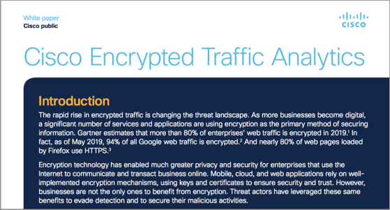 Encrypted Traffic Analytics white paper