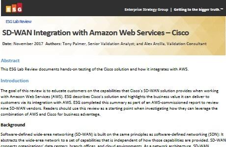 SD-WAN Amazon Web Services