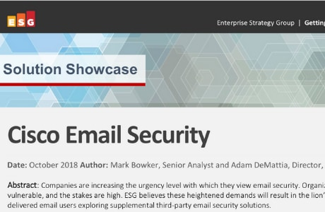 ESG Solution Showcase: Cisco Email Security