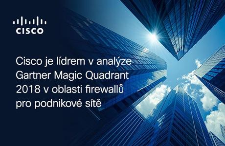 Cisco je lídrem v analýze 2018 Gartner Magic Quadrant v oblasti firewallů pro podnikové sítě