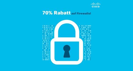 70% Rabatt auf Cisco Firewalls