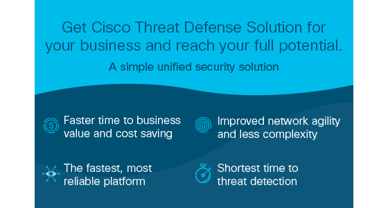 Cisco Threat Defense Bundle is a solution for any size business to solve problems in today's threat landscape.