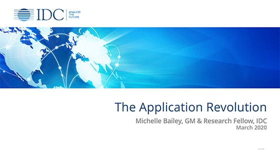 IDC Application Revolution Webinar