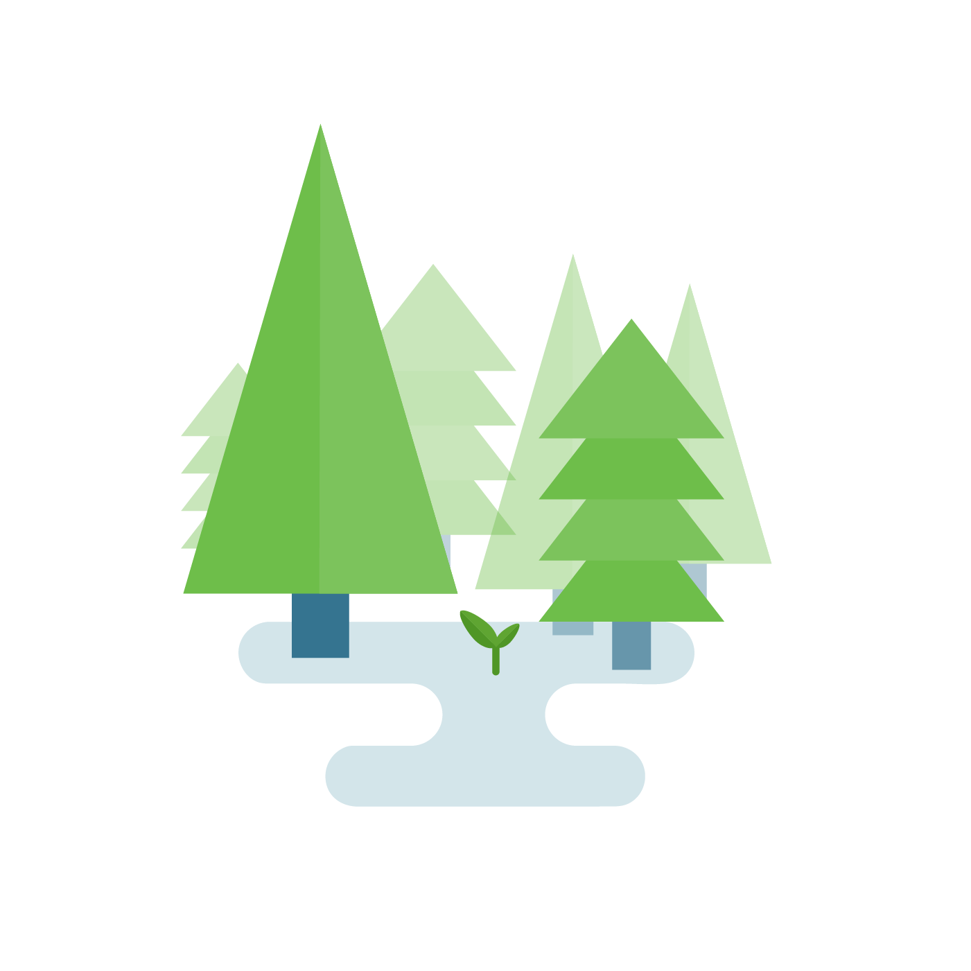 Protected forest icon