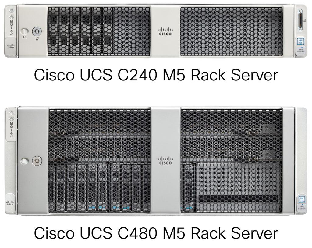 Cisco UCS C240 M5、Cisco UCS C480 M5