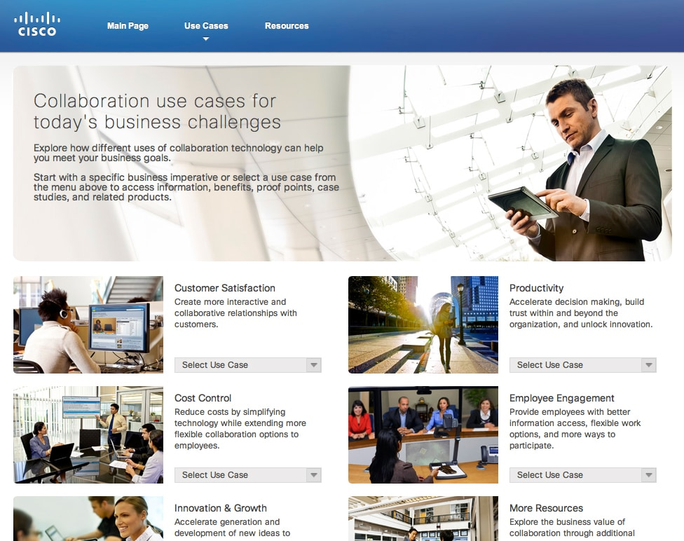 cisco collaboration case studies Icmr home | case studies collection to download cisco's organizational structure and its collaborative approach to decision making case study (case code: hrob132) click on the button below, and select the case from the list of available cases.