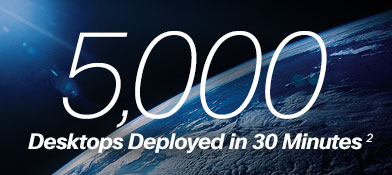 5,000 desktops deployed in 30 minutes