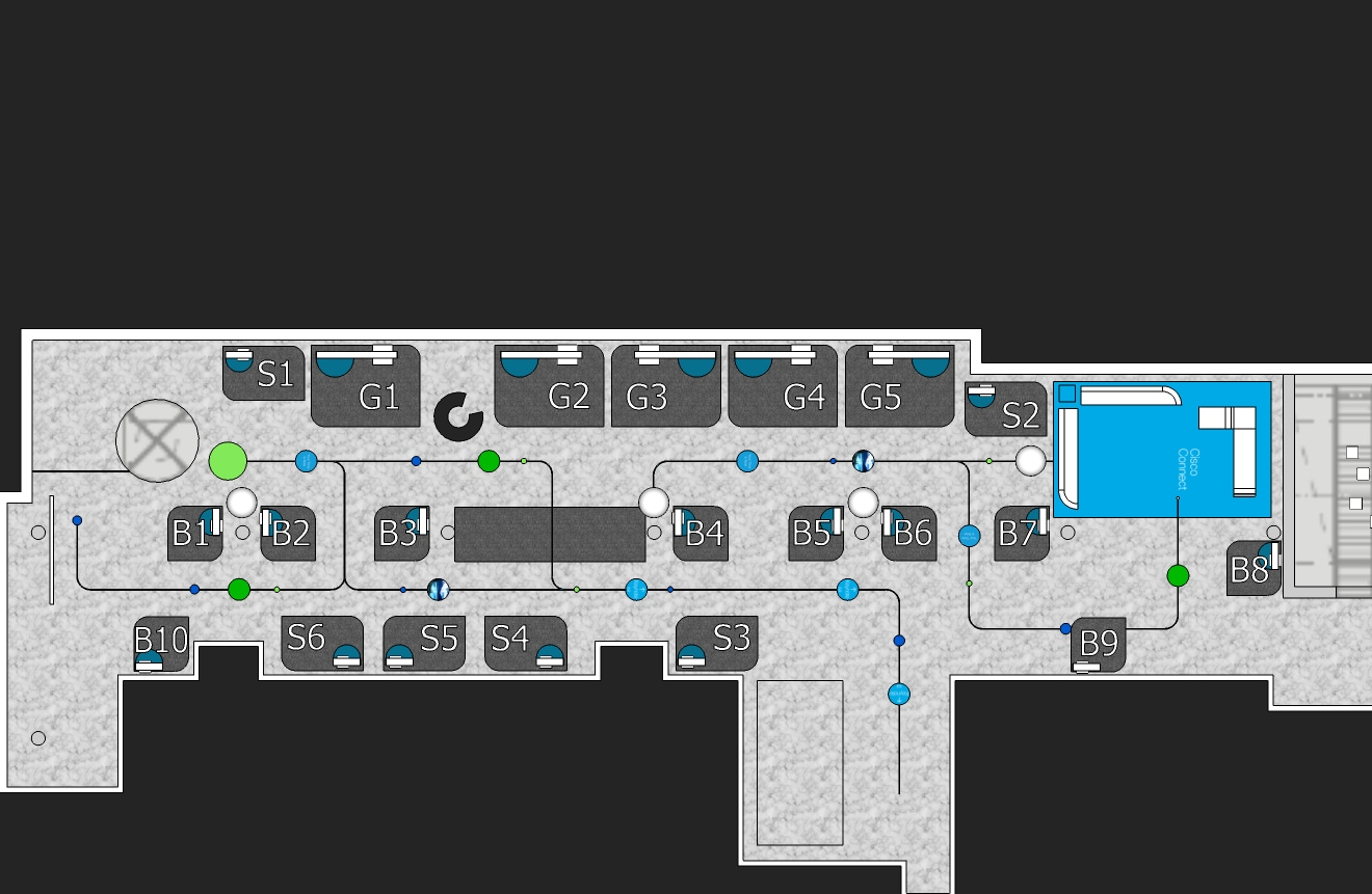 Cisco Connect 2017 - floor plan