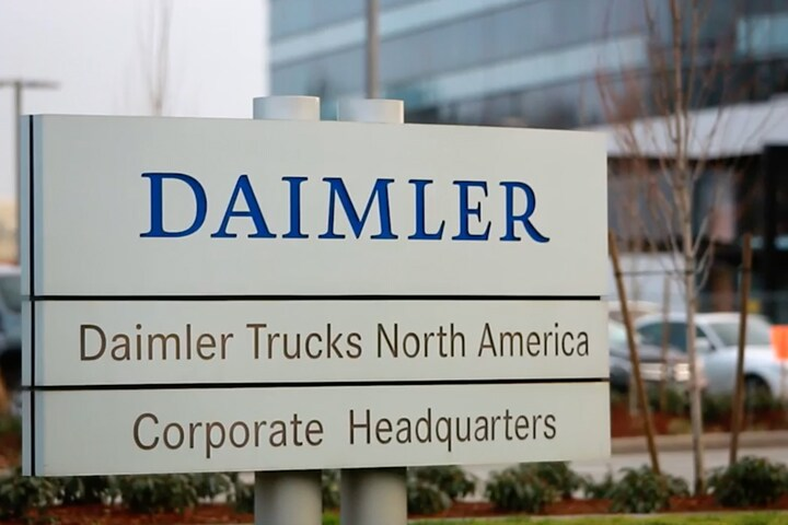 Daimler Trucks North America headquarters sign