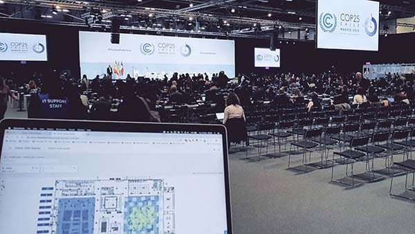 Auditorium interior for the COP25 conference