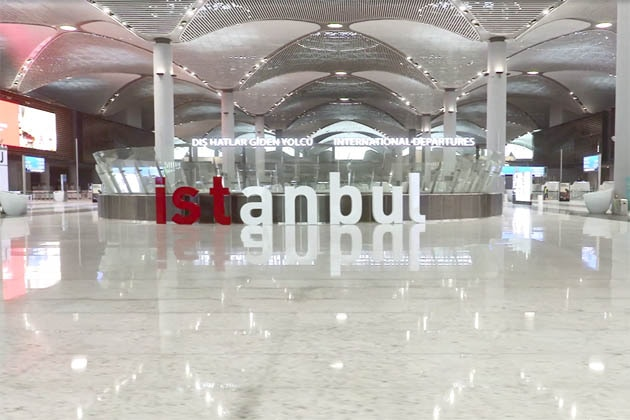 Inside view of an Istanbul Grand Airport terminal