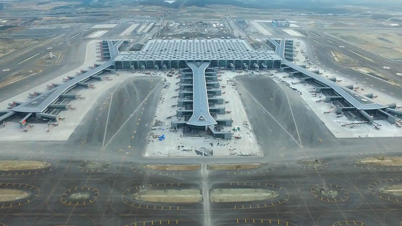 Aerial view of Istanbul Grand Airport