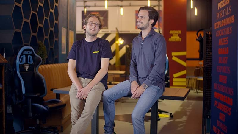 Platform co-founders, Tomaso and Nicolò Portunato, conversing