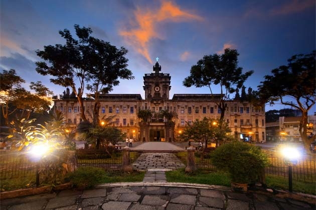 Exterior of a University of Santo Tomas building in the Philippines