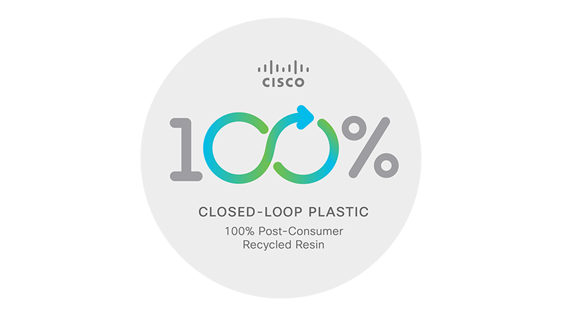 Cisco's first closed-loop plastic product