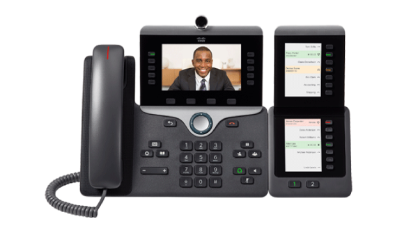 Cisco IP phones provide voice and video