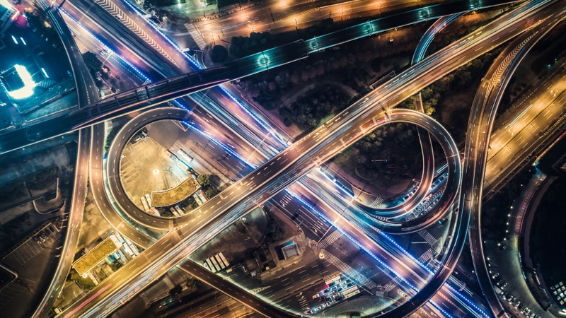 Traffic lights in long exposure