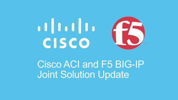 ACI and F5 solution update