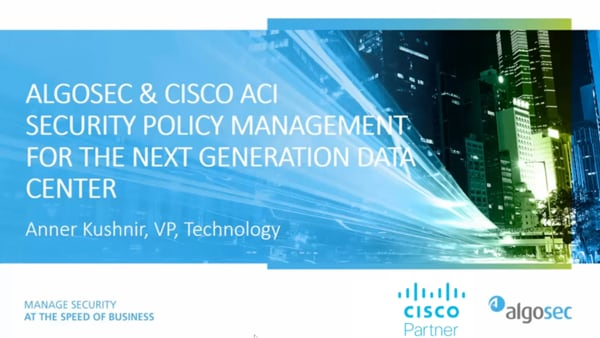 AlgoSec and Cisco ACI