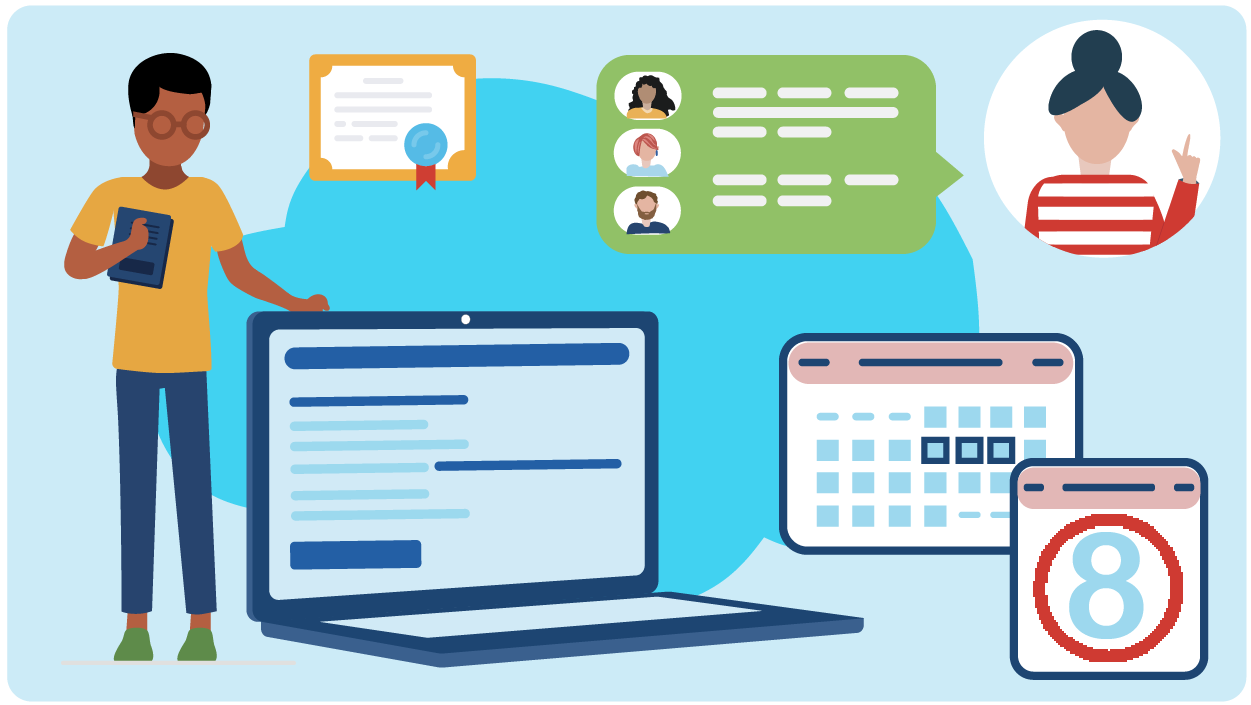 Cisco Guided Study Groups offer learners a 180-day journey of certification preparation that includes synchronous and asynchronous learning and support.