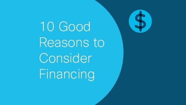 Small business financing should be simple. Here are 10 reasons to consider Cisco Capital.