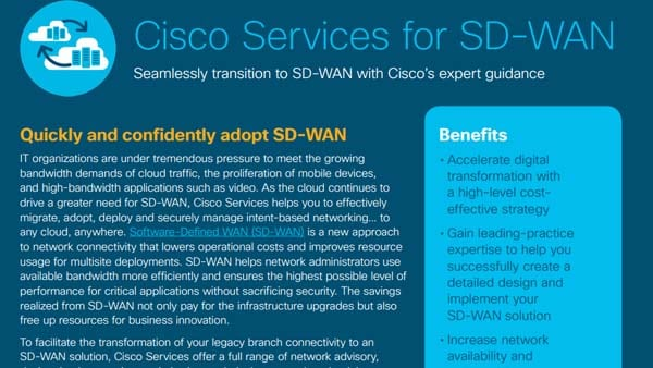 Cisco Services solution overview