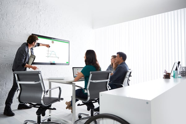 Webex Board 55 has a built-in 12-microphone array