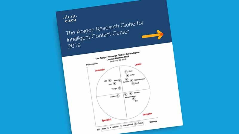Aragon names Cisco a Leader in contact centers